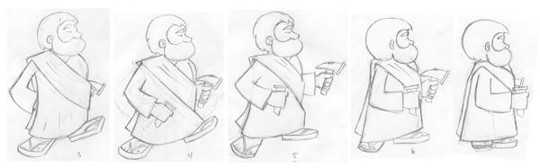 Cartoon Sketch Sequence